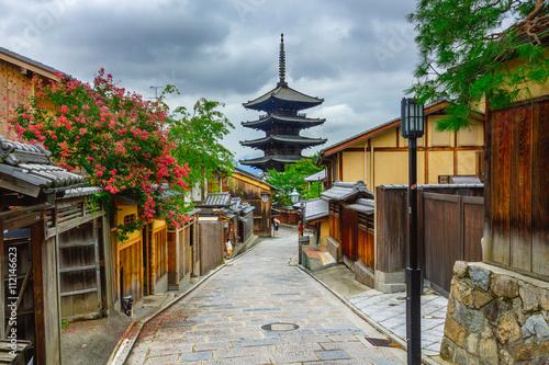 Papiers peints Kyoto Yasaka Pagoda and Sannen Zaka Street in the Morning, Kyoto, Japan