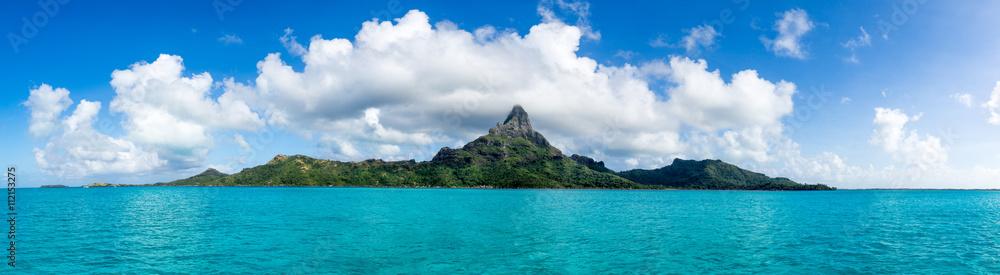 Fototapeta Mont Otemanu des Bora Bora Atolls in Französisch Polynesien