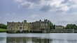 Time lapse view of the moated medieval Leeds castle