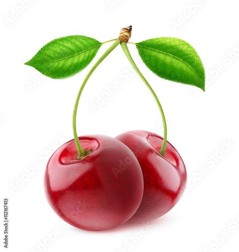 Foto op Aluminium Vruchten Isolated sweet cherries