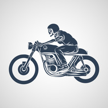 Skull Ride A Classic Cafe Racer Motorcycle