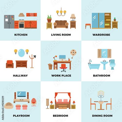 Living room bedroom kitchen kids bathroom dining - Living room bedroom bathroom kitchen ...