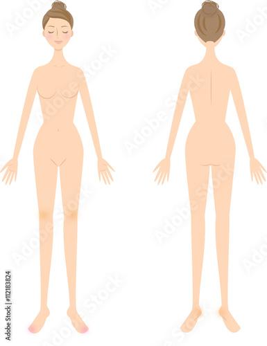女性 全身 美容 ヌード Adobe Stock でこのストックイラストを購入して 類似のイラストをさらに検索 Adobe Stock