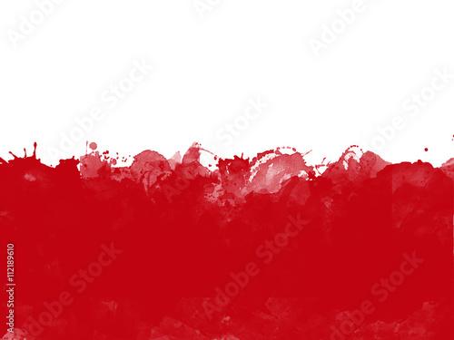 Flag of Poland , grunge style Canvas Print