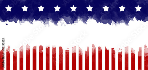 Fotografía  American flag grunge greeting card background