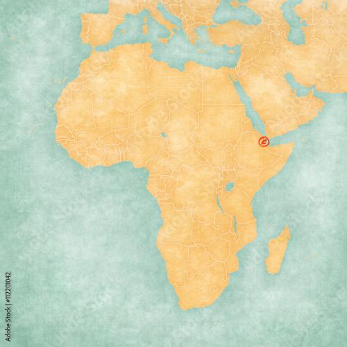 Map of Africa - Djibouti – kaufen Sie diese Illustration und finden ...