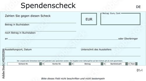 Schlichte Spendenscheck Vorlage Stock Vector Adobe Stock 7