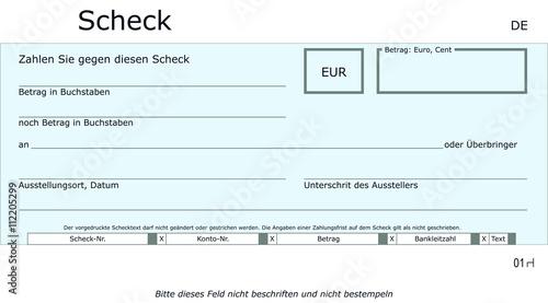 Neutrale Blaue Scheck Vorlage Stock Vector Adobe Stock