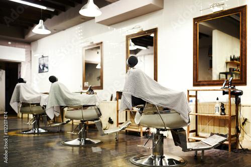 Empty barbershop