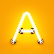 Neon Light Alphabet Character ...