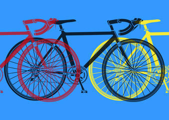 FototapetaVélo de course pop art