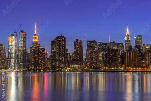 Foto op Aluminium New York New York City manhattan buildings night skyline