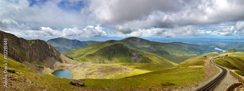 Canvas Print Snowdonia panorama