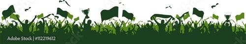 Grupa flag zielonych fanów