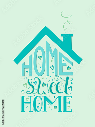 HOME SWEET HOME Vector Lettering Canvas Print