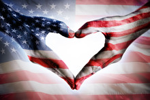 Love And Patriotism - Usa Flag...