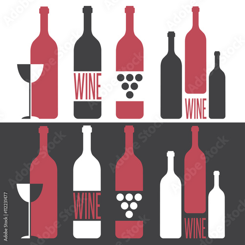 set of vector illustrations on wine theme - 112231477