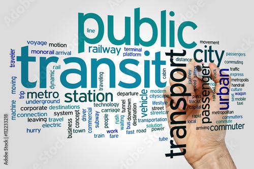 Public transit word cloud