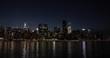 New York City Manhattan night evening skyline