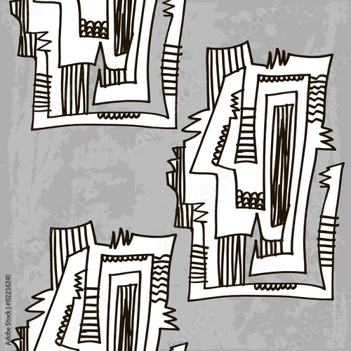 Fotografía  The Picasso-style pattern vector