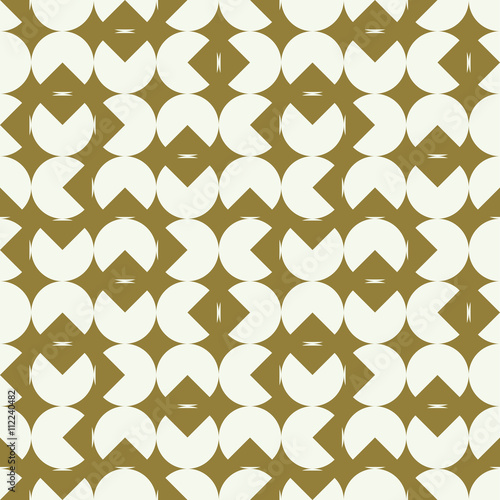 Fotografie, Obraz  Graphic simple ornamental tile, vector repeated pattern made usi
