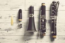 Disassembled Clarinet / Overhe...