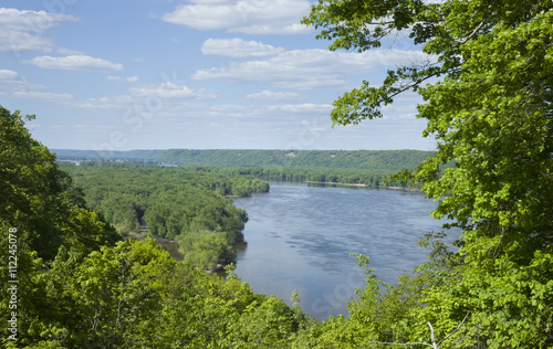 Overlook of the Mississippi River near Guttenberg, Iowa - 112245078