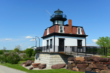 Colchester Reef Light Was A Antique Lighthouse At Colchester Point In Lake Champlain. Now It Was Moved To Shelburne, Vermont, USA.