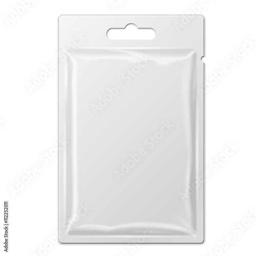 White Product Package Box Blister With Hang Slot Fototapeta