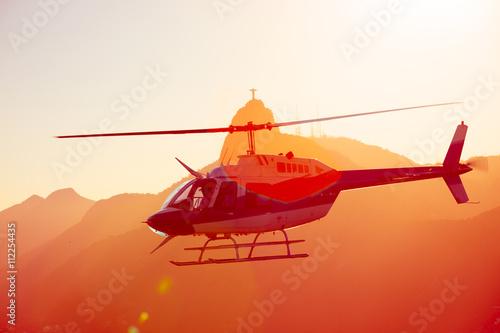 fototapeta na lodówkę helicopter over the Rio