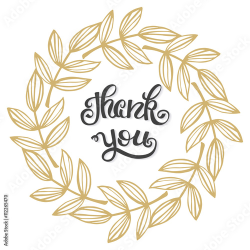 thank you hand lettering sign for a card template thanksgiving