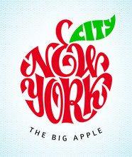 New York City. Vector Lettering