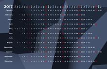 Linear Calendar 2017