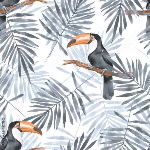 liscie-palmowe-i-pieprzojad-akwarela-bezszwowe-wzor-2