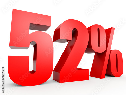 Fotografía  Discount 52 percent off. 3D illustration.