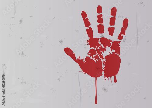 Crime - Empreinte de main - Sang Poster