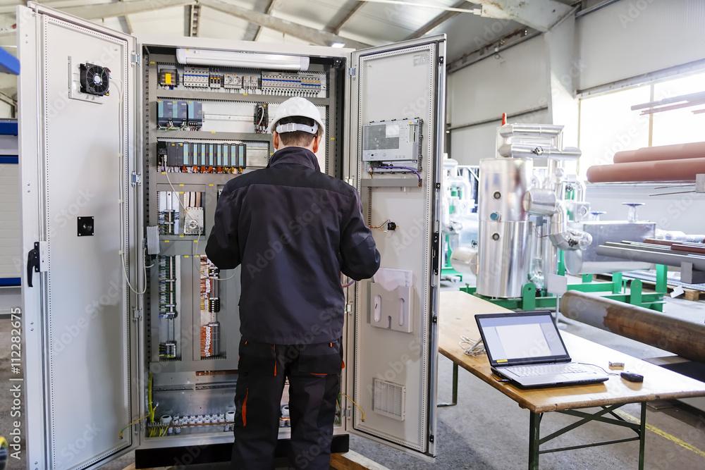 Fototapeta Industrial control panel