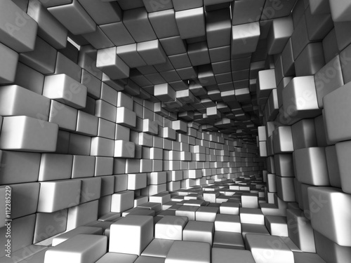 Obraz Abstract Architecture Tunnel With Light Background - fototapety do salonu