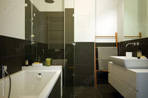 modernes kleines badezimmer in Neubau Apartment - small ...