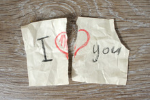 "Torn In Half Message ""I Love Y..."