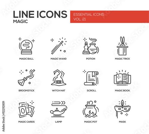 Fotografie, Obraz  Magic - line design icons set