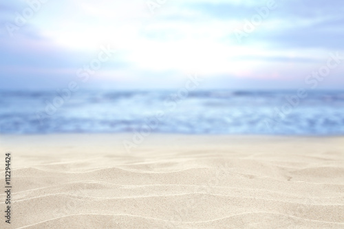 Printed kitchen splashbacks White beach and sand and sky of blue color