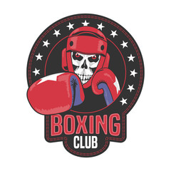 Panel Szklany Boks Boxing club vector logo, symbol, emblem, label