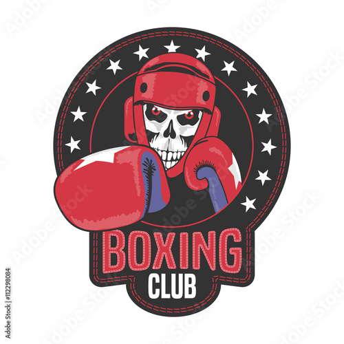 Boxing club vector logo, symbol, emblem, label - 112298084