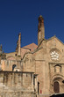 Romanesque façade of the Old Cathedral (aka St Mary's church), Plasencia. Caceres province, Extremadura, Spain.