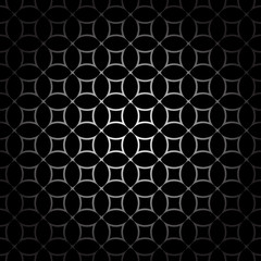 FototapetaBlack and white geometric seamless pattern