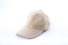 Brown Baseball Cap On White Background