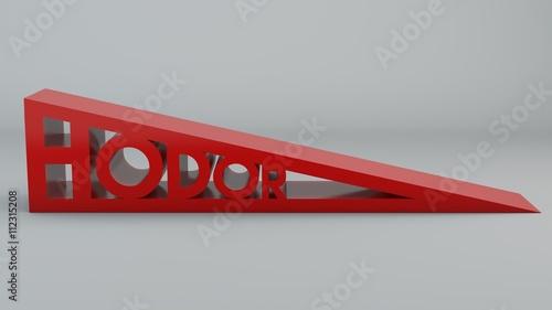 фотография Reggi porta, ferma porta a forma di cuneo con scritta Hodor