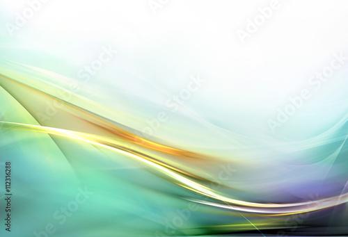 Fotobehang Fractal waves Elegant abstract design