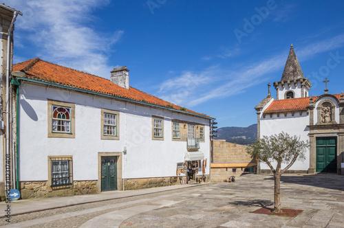 Fotografie, Obraz  Central square in historical Valenca do Minho
